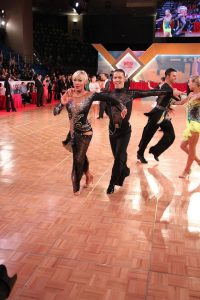 Sebesi Hunor und Jaroslava Huber für Österreich in Hongkong.
